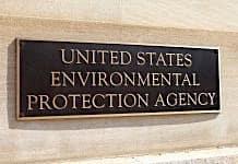 Name plate at EPA headquarters