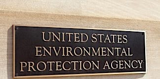 Name plate at EPA headquarters