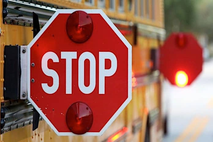 School Bus Stop Arm Extended