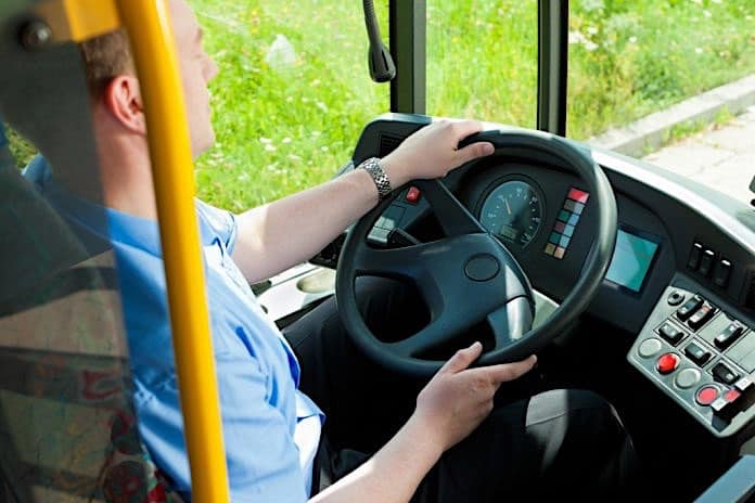 Stock photo of a school bus driver.