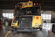 File photo of a National Transportation Safety Board school bus crash investigation.