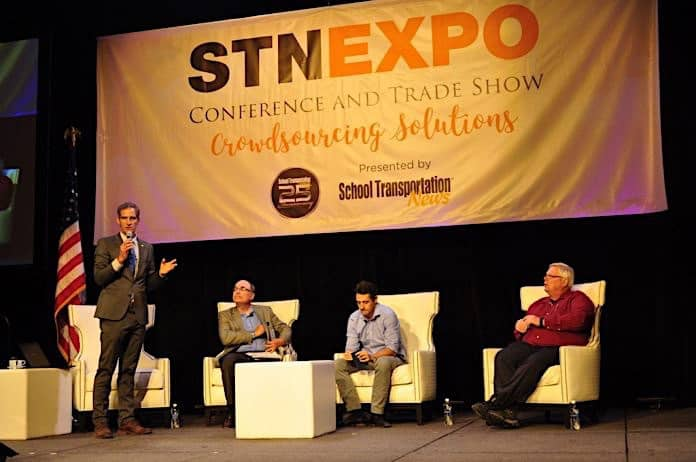 A panel of safety and transportation experts discussed how automation can improve school bus safety during a July 11 general session at the 2017 STN EXPO in Reno, Nev.