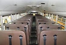 Stock photo of the inside of a school bus.