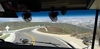 View From Bus Driver's Seat