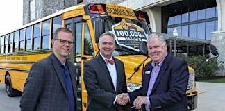 100th Saf-T-Liner C2 keys awarded to school district.