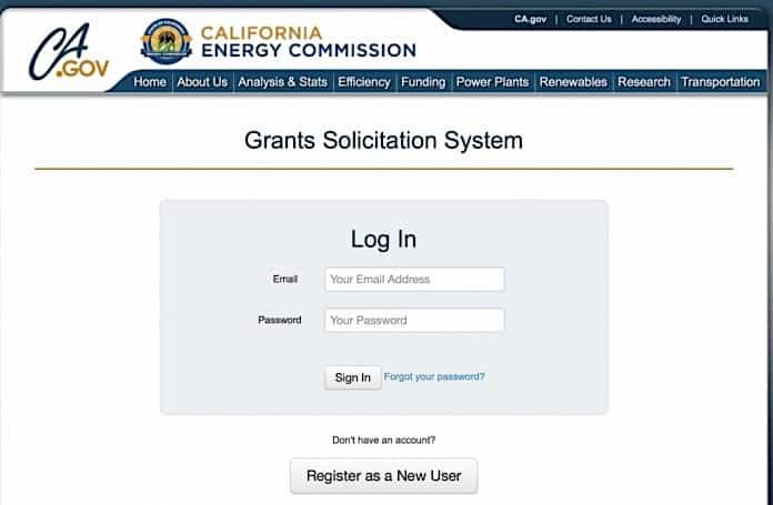 California Energy Commission Grant website.