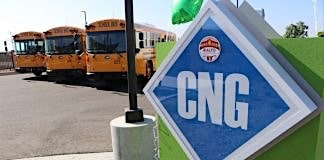 CNG fueling station for school buses.