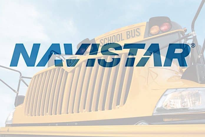Navistar logo over grille of IC Bus