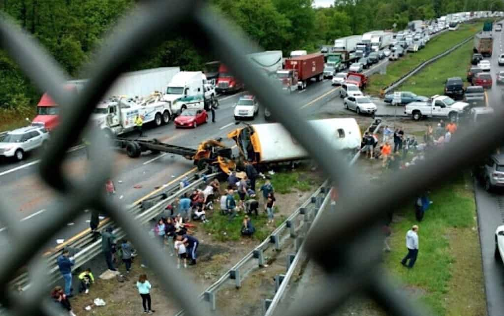 Video Released of Fatal Paramus, N.J. School Bus Crash - STN Media