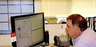 A routing specialist in Wyoming uses Transfinder's system.
