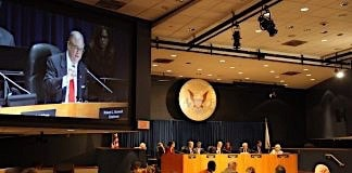 ntsb chairman Robert Sumwalt speaks during pedestrian safety meeting