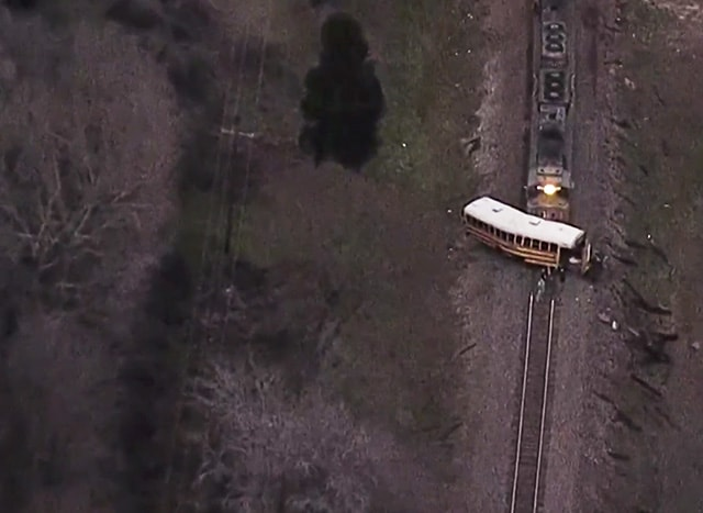 The fatal crash site in Texas. Photo by Fox News.