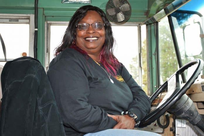 School bus hero Bernadine Reed