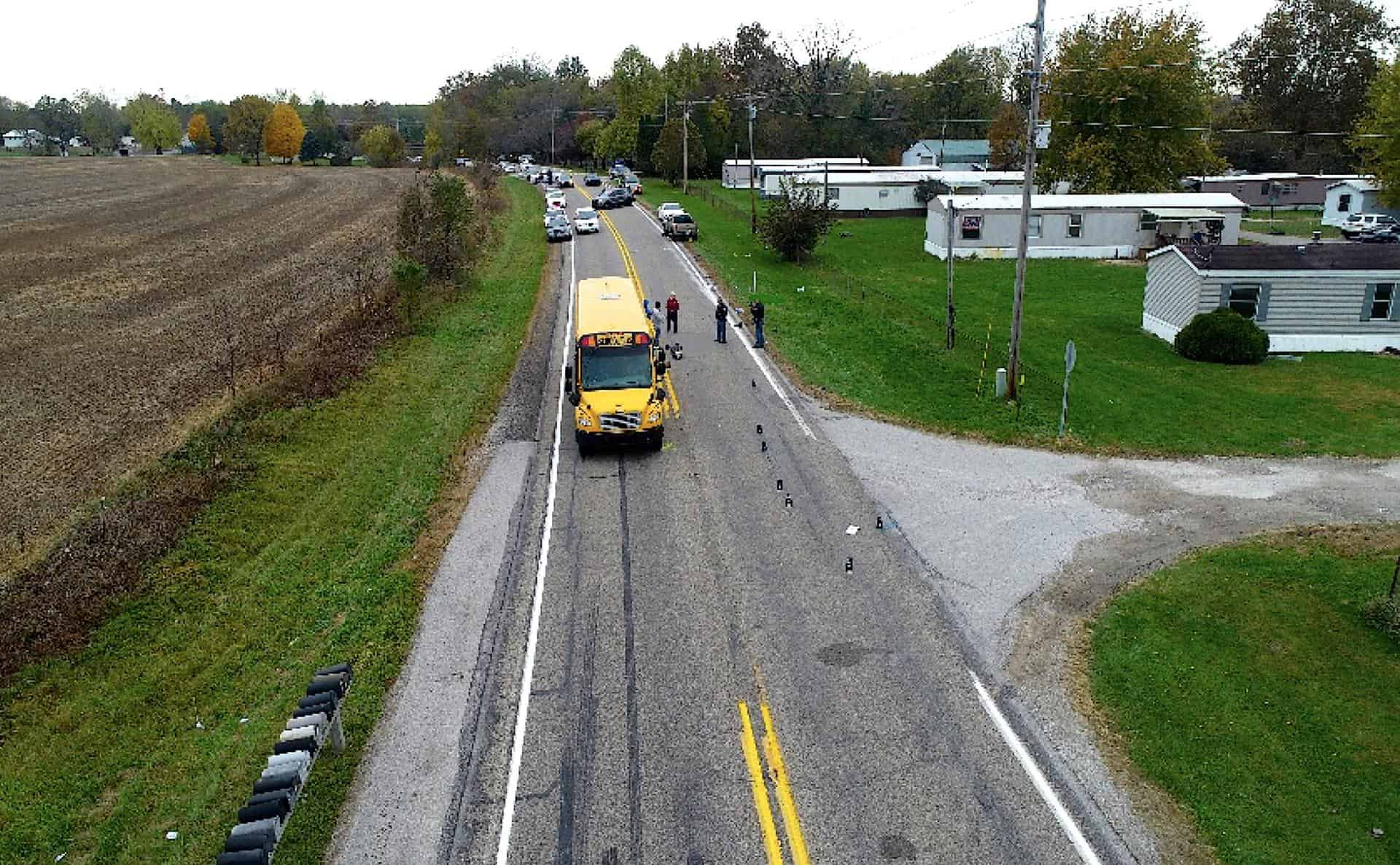 Fulton county indiana bus stop accident