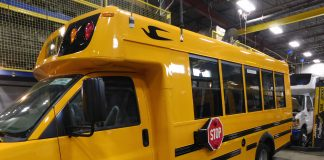 MicroBird's new 35 passenger school bus will soon begin traveling to various dealer and state shows for ride and drive events.