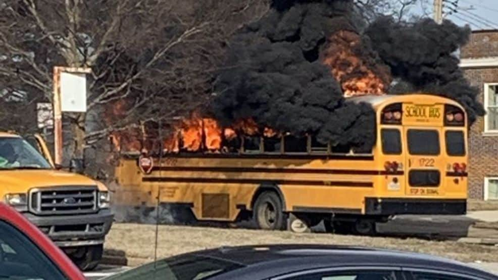 Students Safely Evacuated After School Bus Fire In