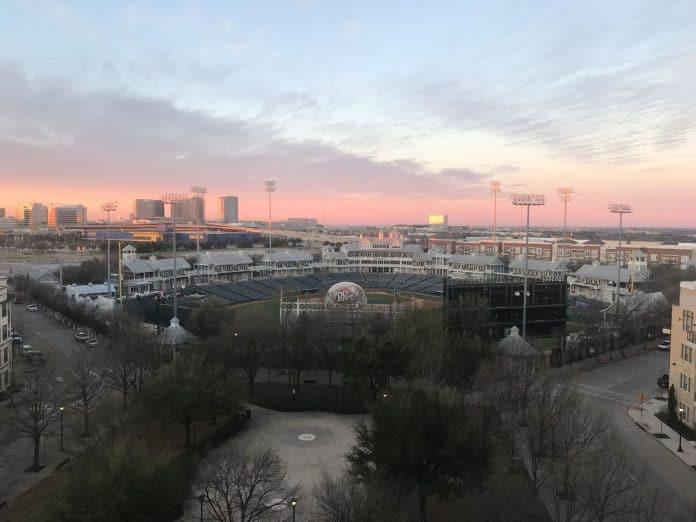 Sunrise in Frisco over the ballpark