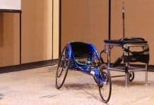 Adaptive sports wheelchair