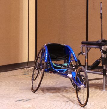 Adaptive sports wheelchair