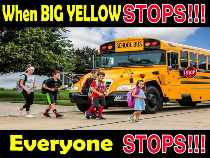 School Safety Campaign implemented by Medina City Schools highlights illegal passing.