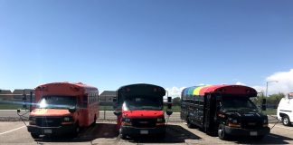 Aurora Public Schools in Colorado re-purposed three of their school buses to be used as mobile cafes over the summer.