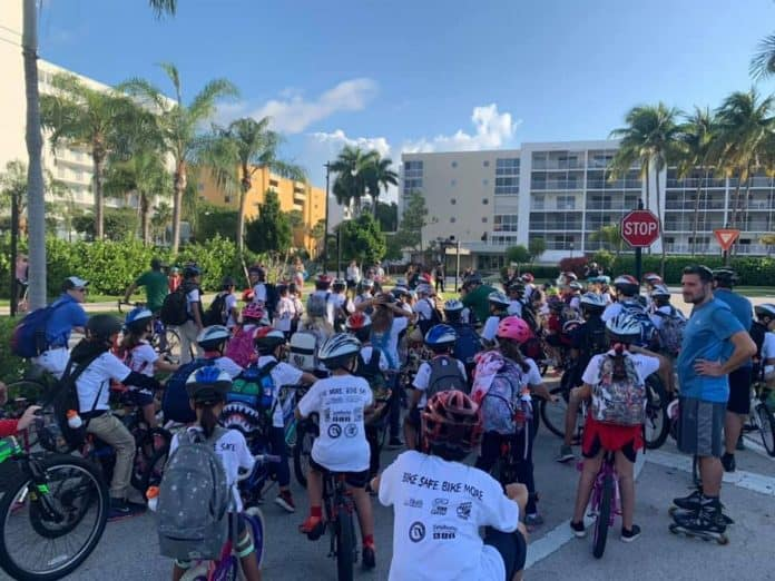 May 8 is National Bike to School Day that is celebrated nationwide. Photo from Facebook/Silvina Chirino
