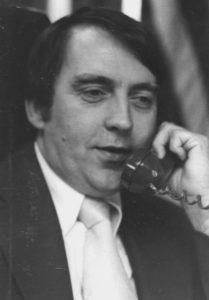 Carlisle Beasley talks on the phone.