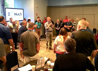 Don Harkey leads TD Summit attendees in an interactive exercise during STN EXPO Indy 2019.