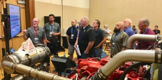 School bus technicians participated in classroom and hands-on training at the Cummins Service Training School held during the 2019 STN EXPO Indianapolis.