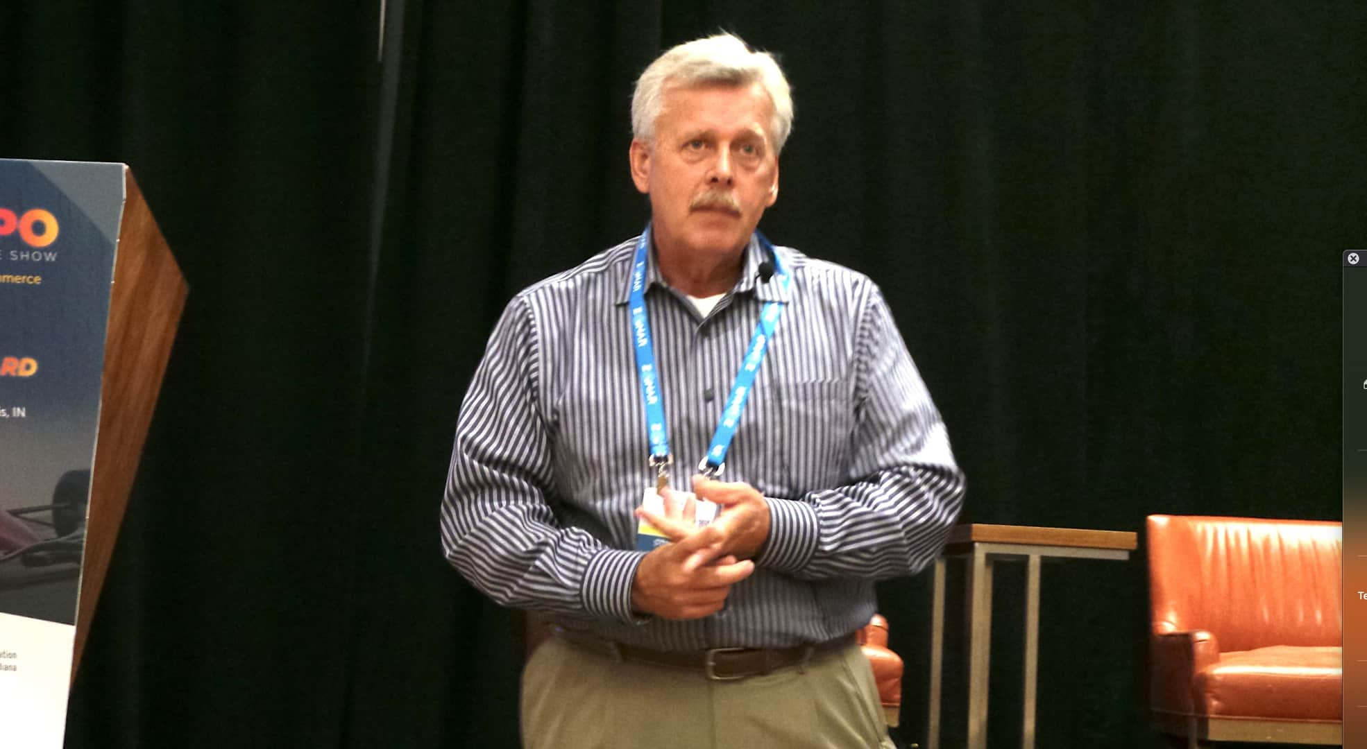 Industry expert Marshall Casey enumerated the strong points in his presentation. (Photo by David George.)