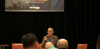 Instructor Joe Scesny presented his findings on maintenance issues that lead to school bus fires at the STN EXPO Indianapolis on Monday, June 10, 2019. (Photo by Taylor Hannon.)