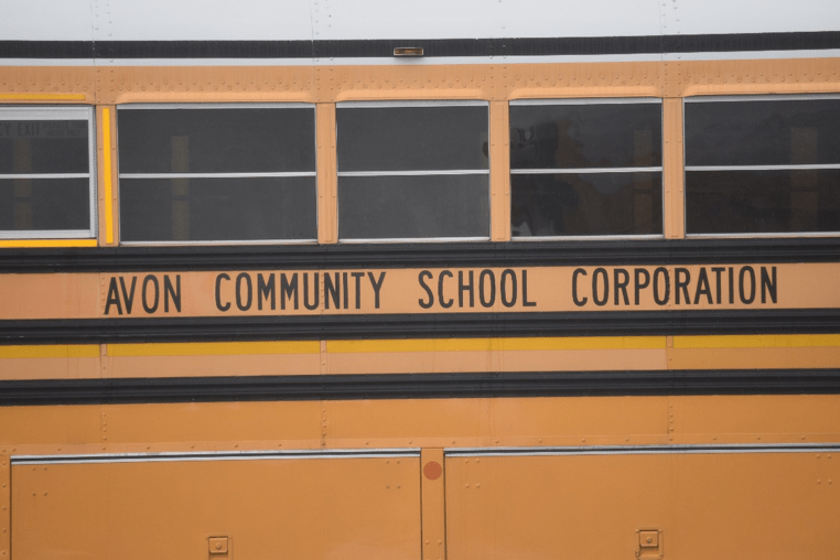 One of the scores of school buses used by Avon to transport students in the Indianapolis suburb.
