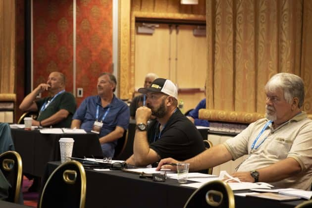 Attendees at the Inspector training class