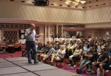 Jim Harris speaking at the STN EXPO on July 28, 2019.