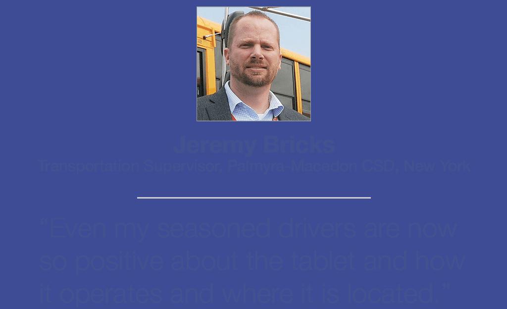 Jeremy Bricks, Transportation Supervisor, Palmyra-Macedon CSD, New York, talking about Tyler Drive