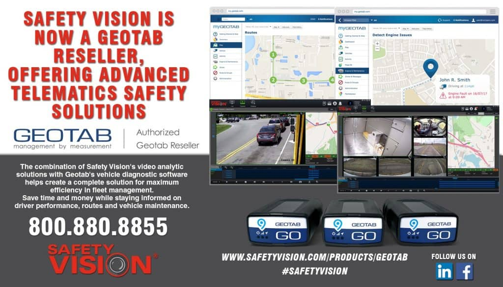 Safety Vision is Now a Geotab Reseller, with Advanced