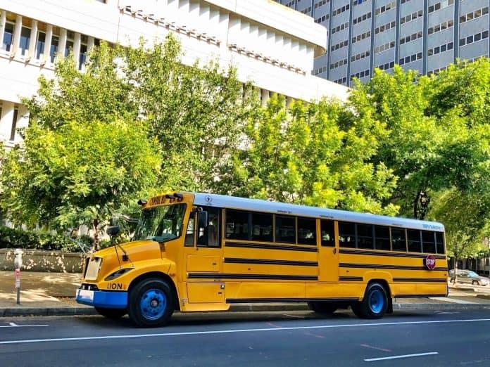 The Lion Electric Zero-Emission Type C school bus.