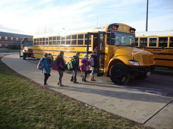 Students Boarding a School bus
