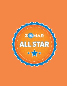 Zonar All Star Button