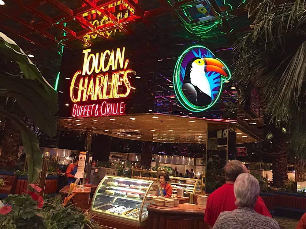 Toucan Charlie's Buffet on Virginia Street in Reno is #1 on my list of restaurants to dine at during the STN Expo. The truly extensive offering of piles of almost everything you would like to eat, and then some, is honestly impressive. But don't go there if you aren't hungry, because you'll wish you hadn't eaten for the past 3 days.
