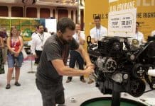 IC Bus held a technician competition at its booth during the STN EXPO Reno in July 2019. (Photo by Taylor Hannon.)