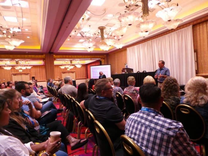 STN EXPO Reno attendees take in a presentation by Amy Scopac and Kayne Smith understanding multi-generational workforces.