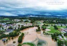 Flooding in Missouri caused several school cancellations on Aug. 26, 2019. [Facebook/Eureka, Missouri Community.]