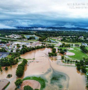 Flooding in Missouri caused several school cancellations on Aug. 26, 2019. [Facebook/Eureka, Missouri Community.]