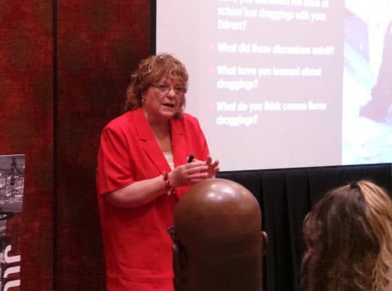 Betty Hughes asked a number of tough questions for attendees to consider.