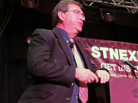 International security expert Michael Dorn gave a riveting presentation on Monday, July 29.