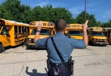 Kansas Highway Patrol inspects school buses