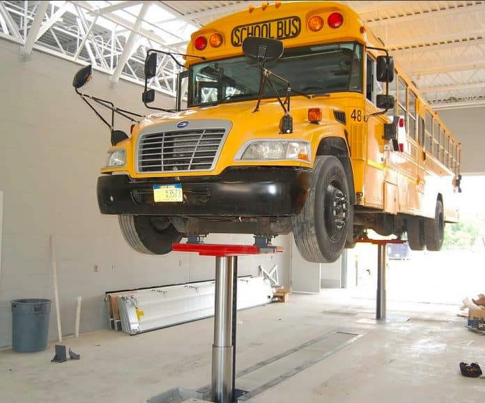 The pupil transportation sector has widely embraced the Stertil-Koni DIAMONDLIFT, which delivers rapid, efficient wheels-free lifting.