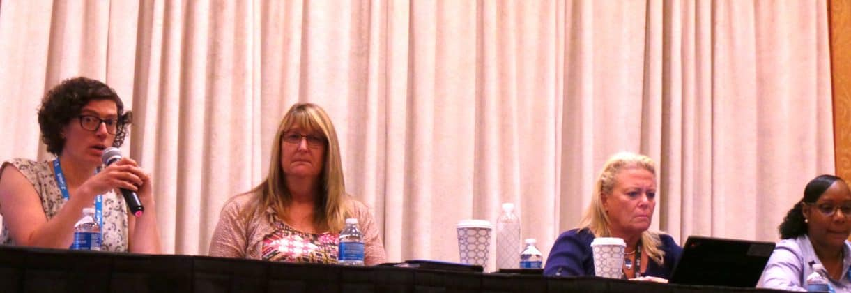 The charter schools panel featured (from left): Betheny Gross, Launi Harden, Alex Robinson and Nicole Portee.