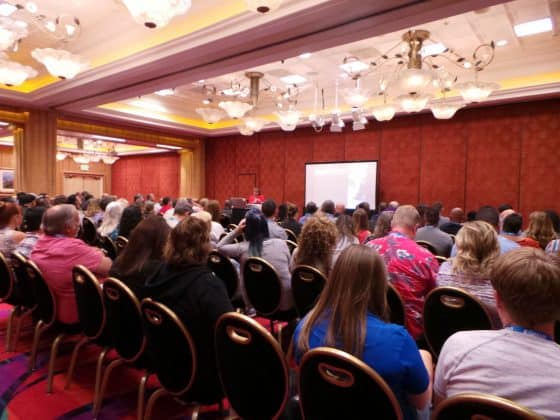 The student dragging session was packed for speaker Betty Hughes' presentation.